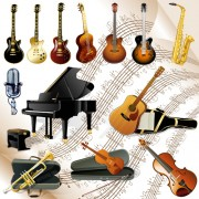Link toVector set of musical instruments graphics 03