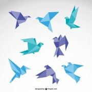 Link toVector set of origami birds graphics