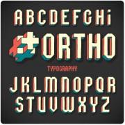 Link toVintage 3d alphabet vector material