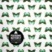 Vintage butterflies seamless pattern vector material 01