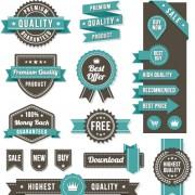 Link toVintage ribbon and labels sale elements vector