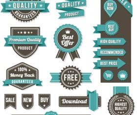 Vintage ribbon and labels sale elements vector