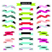 Link toVintage ribbon set vector material 01