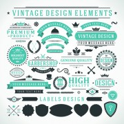 Link toVintage robbon banner with labels vector 02