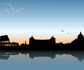 Waterfront city creative silhouette vector 05