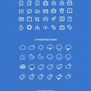 Weather with soft icons psd