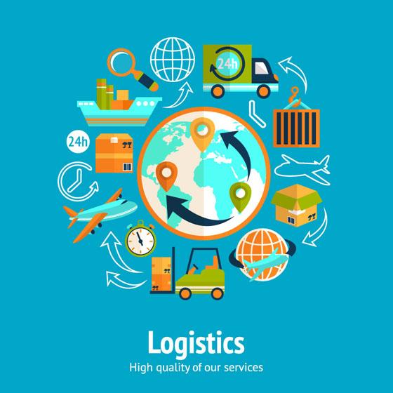 World logistics elements vector design over millions vectors world logistics elements vector design toneelgroepblik Images