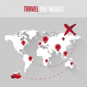 Link toWorld maps with travel vector background