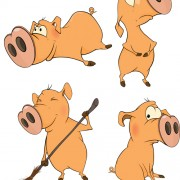 Link toLovely pigs cartoon vector material 01