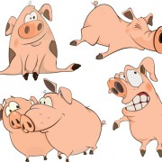 Link toLovely pigs cartoon vector material 02