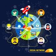 Link toSocial network design elements vector 03