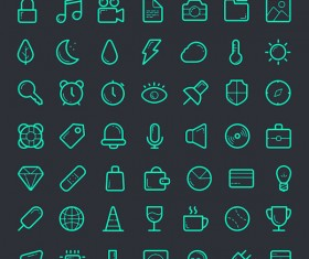 112 Kind green outline web icons
