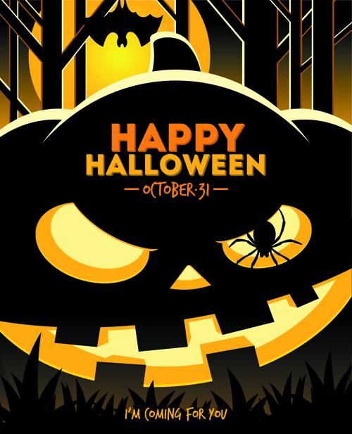 2014 halloween art background vector 01