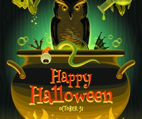 2014 halloween art background vector 03