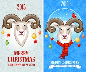 2015 goats christmas banners design 02