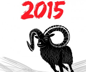 2015 goats holiday background art 01