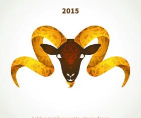 2015 goats holiday background art 02