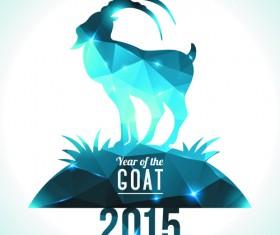2015 goats holiday background art 04