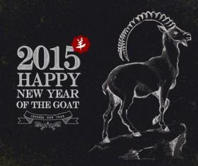 2015 goats holiday background art 05