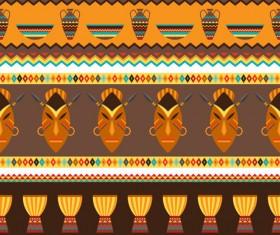 African style seamless vector pattern 01
