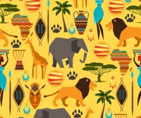 African style seamless vector pattern 02