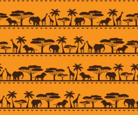 African style seamless vector pattern 03