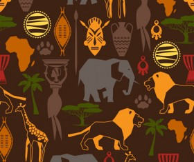 African style seamless vector pattern 04