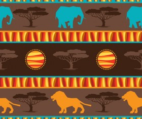 African style seamless vector pattern 05