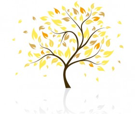 Art autumn tree creative background vector 03