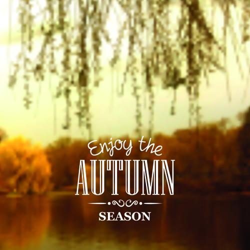 Autumn season nature blurred background 02