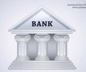 Bank building psd material