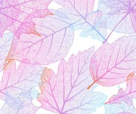 Beautiful autumn leaves vector seamless pattern 02