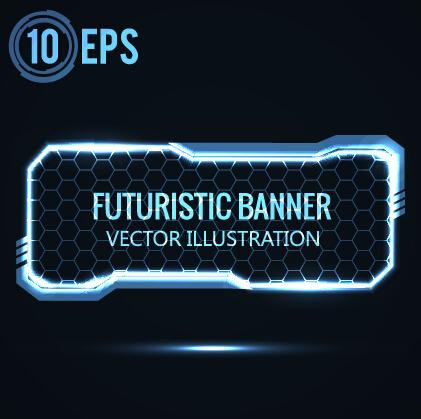 Blue Light Futuristic Illustration Vector 02 Vector