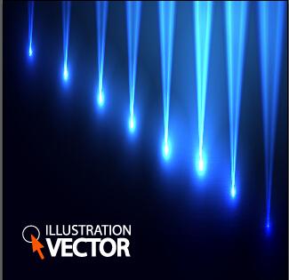 Blue light vector background illustration 01