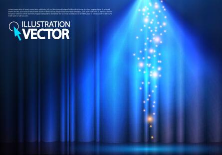 Blue light vector background illustration 05