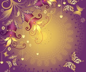 Brilliant butterfly art background material 02