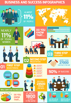 Business Infographic creative design 2096
