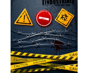 Caution with caveat vector background
