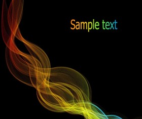 Charm dynamic lines effect background vector 02