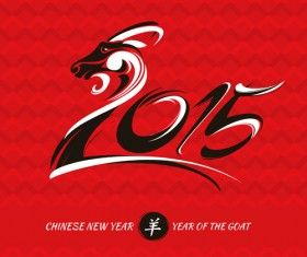 Chinese new year of goat vector background 01