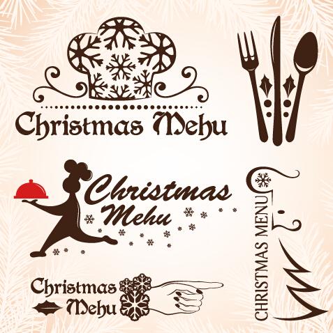 christmas menu design elements vector set 07 free download