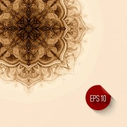 Link toClassical decorative floral background vector 02