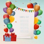 Link toColored balloons holiday vector background