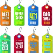 Link toColored discount price tag vector graphics 01
