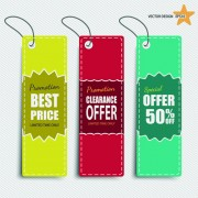 Link toColored discount price tag vector graphics 03