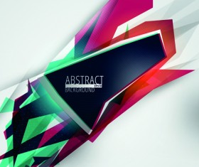 Colorful geometry concept vector background 03