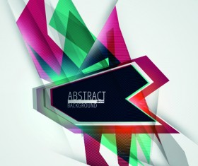 Colorful geometry concept vector background 05