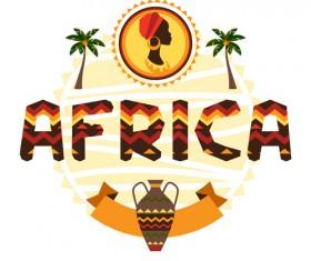 Creative african background vector 01