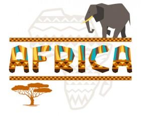 Creative african background vector 02