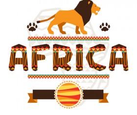 Creative african background vector 03